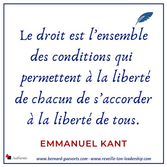 Citation de Kant sur la liberté et le droit
