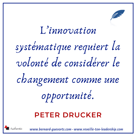 Citation de Drucker peter sur l'innovation