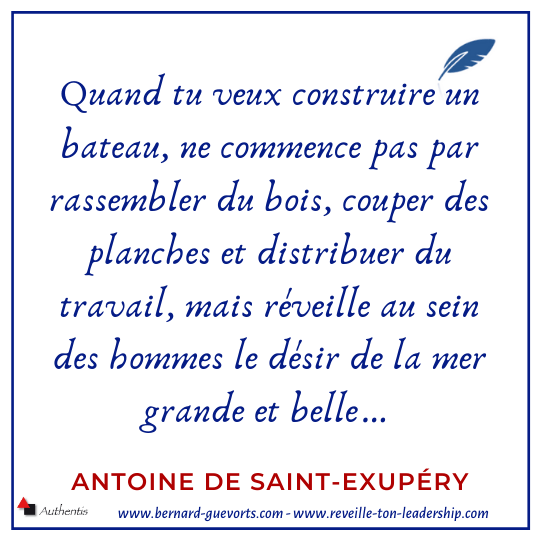 Citation de St Exupery sur la vision