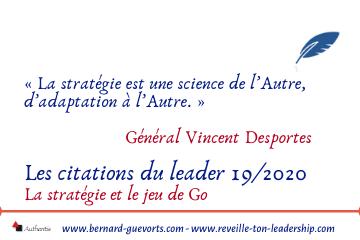 Couverture citations du leader sur la stratégie