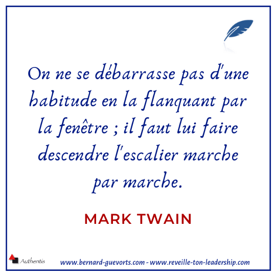 Citation de Mark Twain sur les habitudes