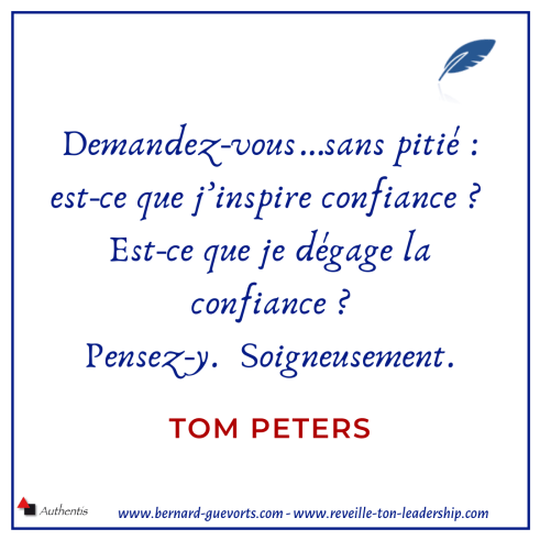 Citation sur la confiance de Tom Peters