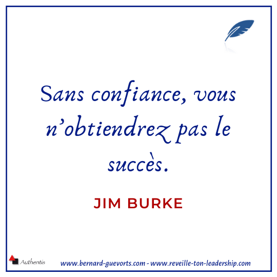 Citation de Jim Burke sur la confiance