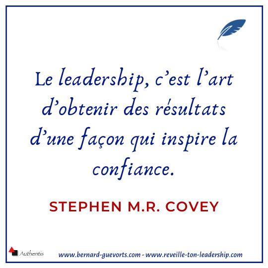 définition du leadership et confiance par Covey