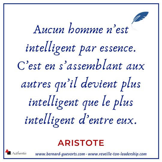 Citation d'Aristote sur le collaboratif