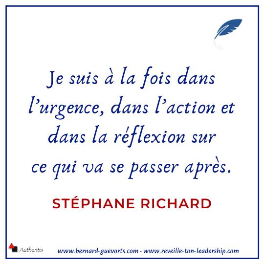 Citation du DG d'orange Stéphane Richard