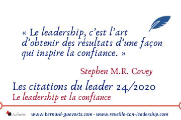 Couverture article sur la confiance et le leadership