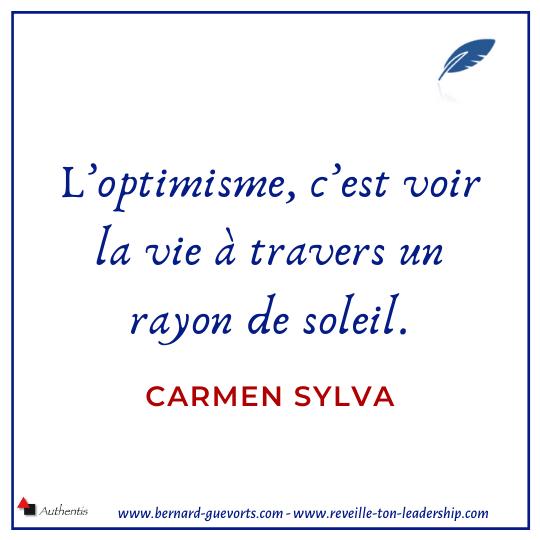 Citation sur l'optimisme de Sylva