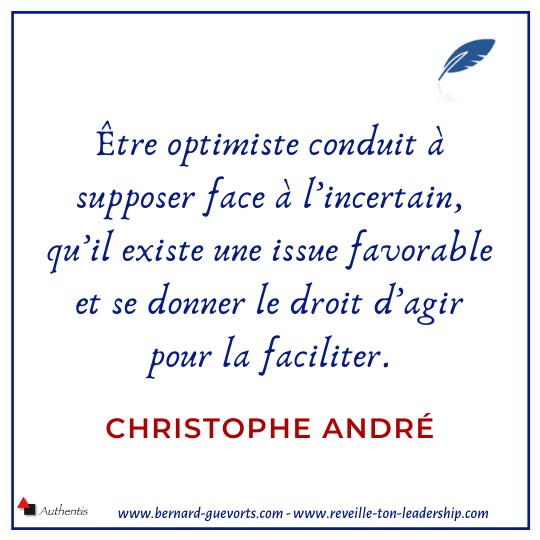 Citation de Christophe André sur l'optimisme