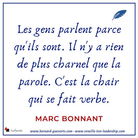 Citation sur la prise de parole de Marc Bonnant