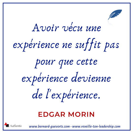 Citation d'Edgar Morin sur l'expérience