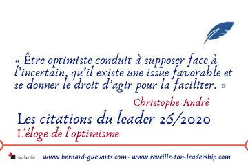 Couverture article citations sur l'optimisme