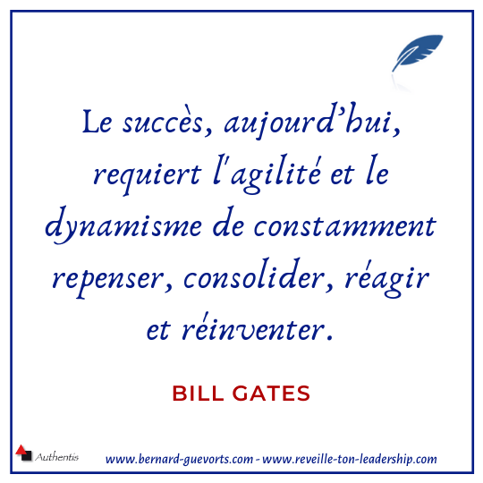 Citation de Bill Gates sur l'adaptabilité