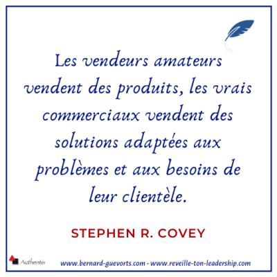 Citation de Covey sur la vente