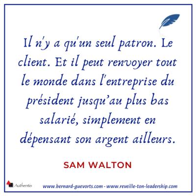 Citation de Walton sur le client