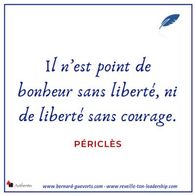 Citation sur la liberté et le bonheur de Periclès
