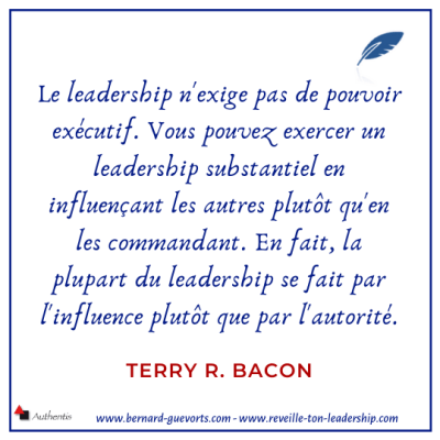 Citation sur le leadership et la position de Terry Bacon