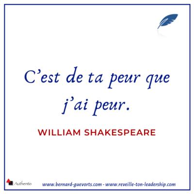 Citation de Shakespeare sur la peur