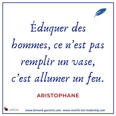 Citation d'Aristophane sur l'éducation