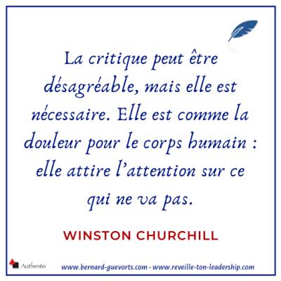 Citation de Churchill sur la critique