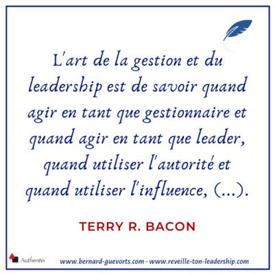 Citation sur le leadership et la gestion