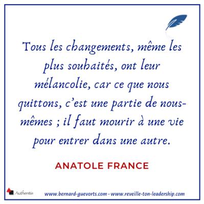 Citation sur le changement d'Anatole France