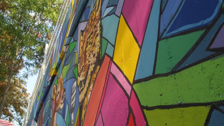 "Jaguar, parte del mural ""interculturalidad"", Felberstraße, 15. Bezirk."