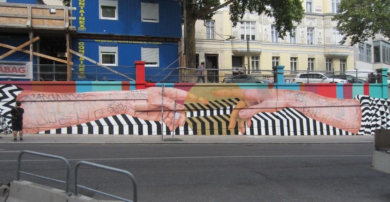 """""""Cuerpo de ciudad"""", Medianeras Murales, Gumperdorferstraße, 6. Bezirk."""