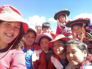 Mit Kindern beim Watunakuy, Elisabeth Buchner, Peru, Juni 2018.