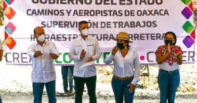 Supervisa Gobierno Municipal y Estatal reconstrucción de la Carretera Libramiento – Pochutla