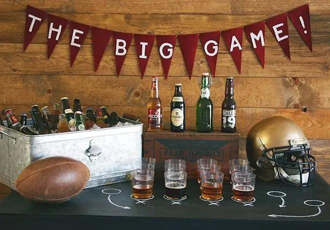 6 stylish super bowl party decorating ideas - Super Bowl Decorations