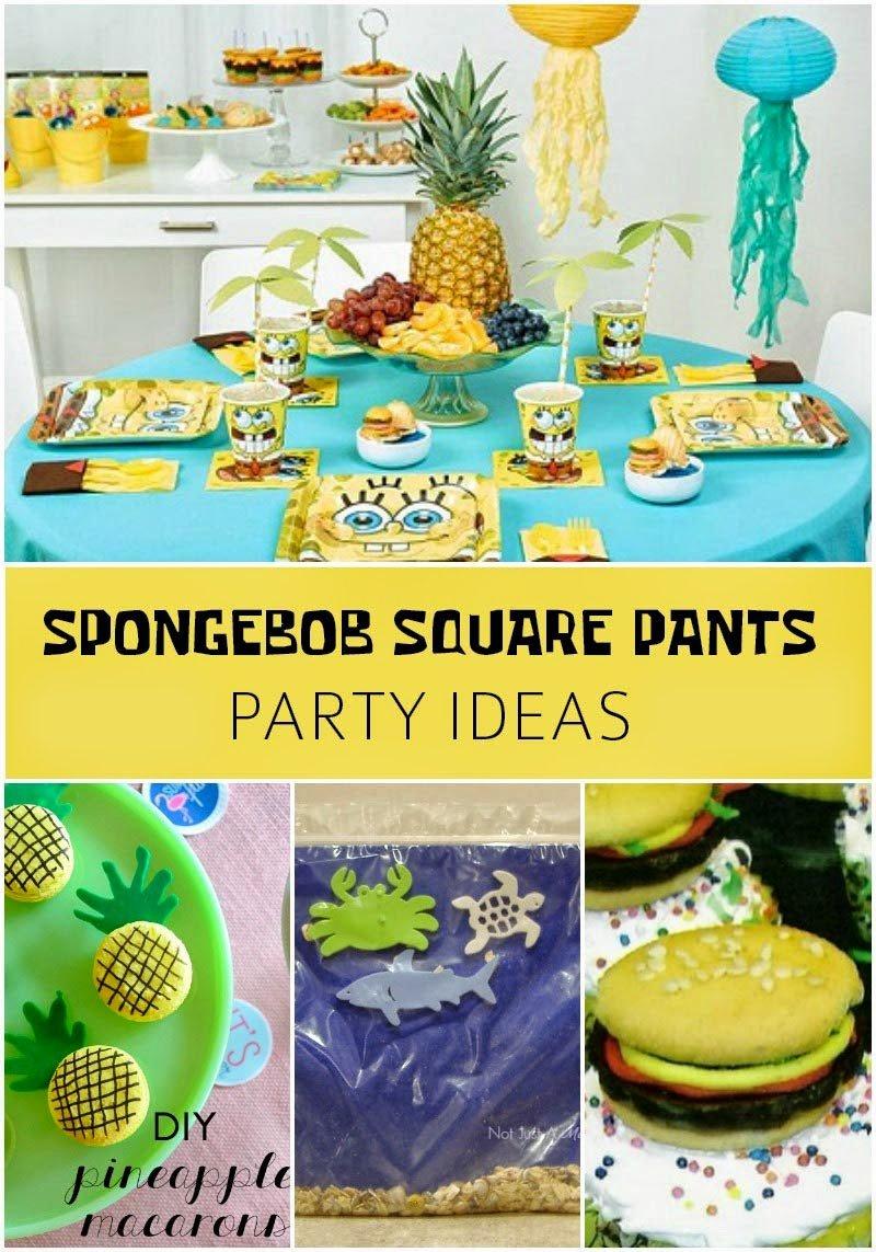 SpongeBob Squarepants Party Ideas - Revel and Glitter