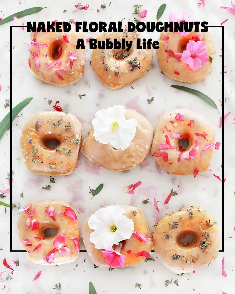 National Doughnut Day Party Blog Hop; naked floral doughnuts