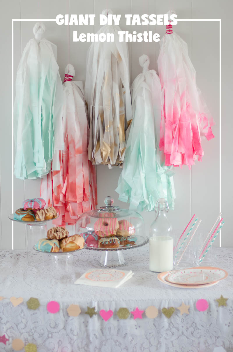 National Doughnut Day; DIY tassels for a doughnut party