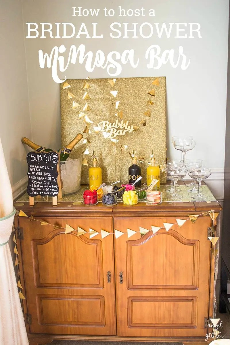 how to host a bridal shower mimosa bar hero