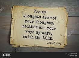 My thoughts are not your thoughts