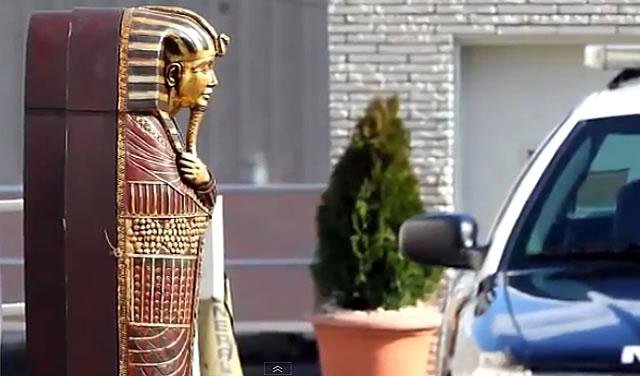 Egyptian Sarcophagus:Whitney Houston Funeral