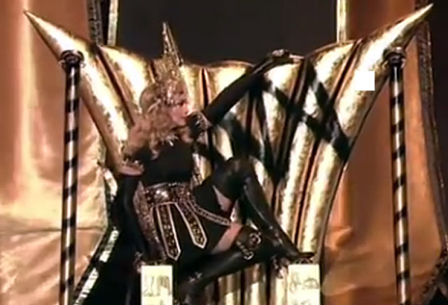 Madonna:Throne Message of the Occult