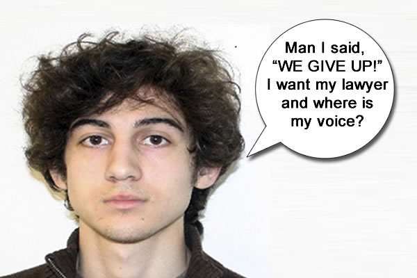 Tsarnaev Brothers Scream: We Did NOT Do It
