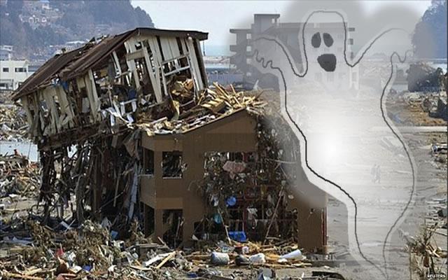 Spirit Seen Fleeing Japan Tsunami?