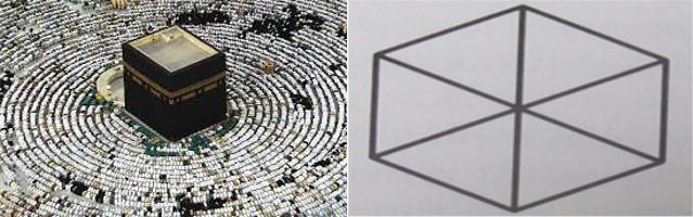 Kaaba Stone & Geometric Cube