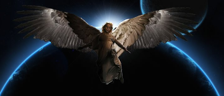 Man Photographs Angel at Sunset!