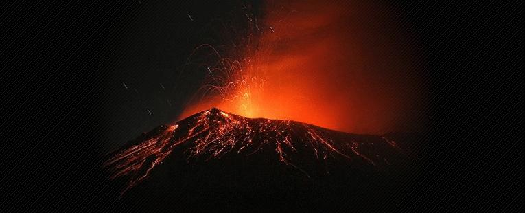 UFO Fly Over Volcano Popocatépetlin