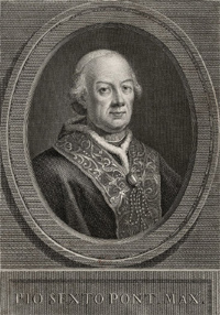 Pope Pius VI remvoed from power in 1798 A.D.