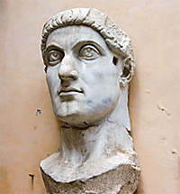 Roman Emperor Constantine created the Roman religion of Christianity