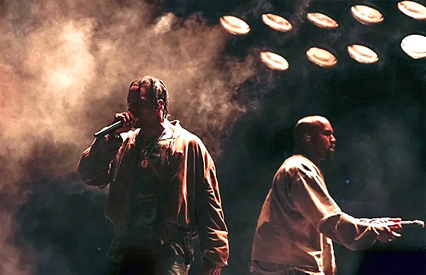 On 11/09/19, Kanye West joined Illuminati puppet and Satanist Travis Scott on stage at the Astroworld Festival