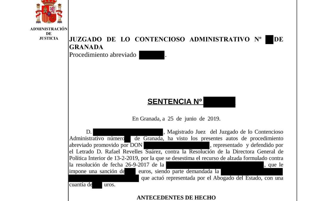 Revelles Abogados anula la sanción a un Policía y consigue condena en costas a la Abogacía del Estado.