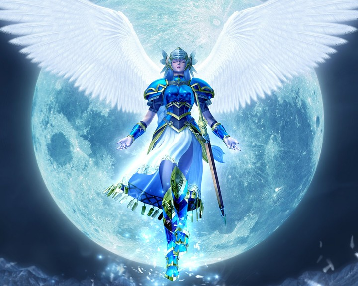 Facebook Wallpaper Girl Anime Moon Fairy Angle Fantasy Background Wallpaper By