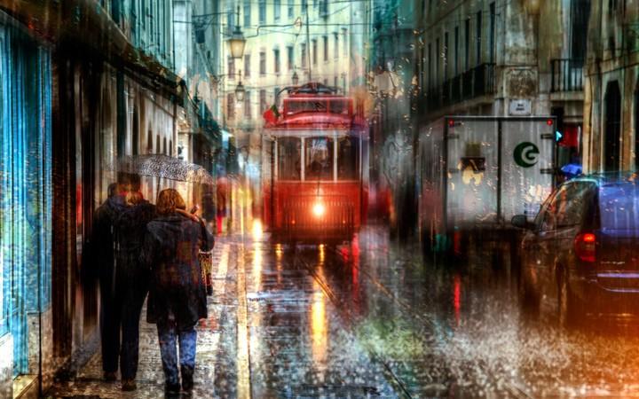 Lisbon Portugal Rain wallpaper by BillGate