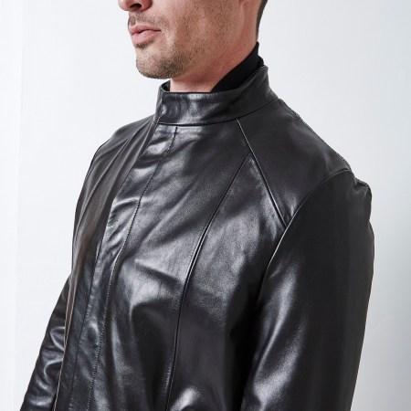 veste cuir craquelé noir sebastien blondin